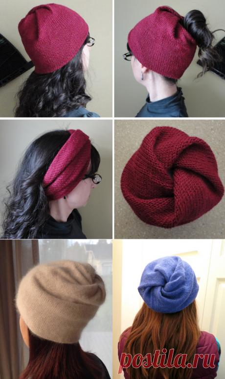 Вязаная шапка-снуд Strange Loop | ДОМОСЕДКА