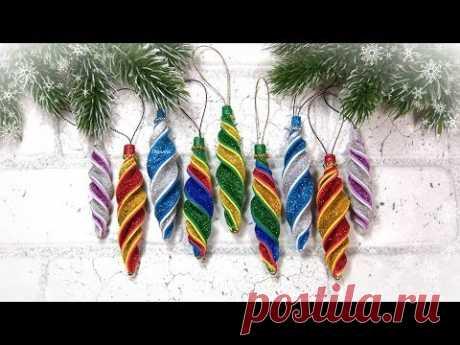 Игрушки на елку за 5 минут своими руками 🎄 НОВОГОДНИЕ 2020 🎄 diy christmas ornaments