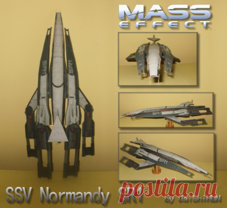 Paper SSV Normandy SR1 The SSV Normandy SR1 from Mass Effect. This the most gorgeous spacecraft I've ever seen. So i had to make it from paper. I've used some wire to stabilize the engine pods, just under the nozzle join...