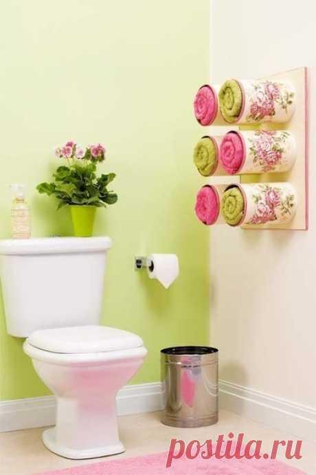 Идейка для ванной комнаты. Использование жестяных банок