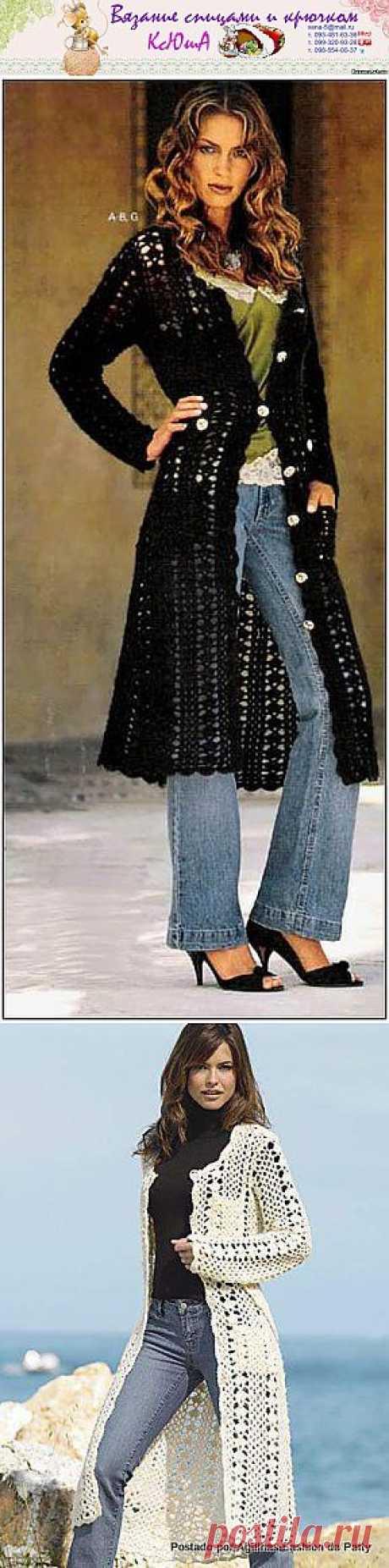 Пальто крючком - 30 Ноября 2011 - Блог - Вязаные вещи на заказ