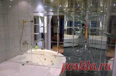 Ванная комната: как увеличить пространство #ваннаякомната #увеличениепространства #дизайнинтерьера