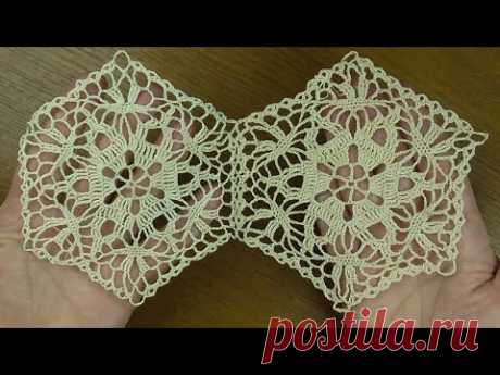 Crochet pattern Beautiful motif for tablecloth Оооооочень красиво