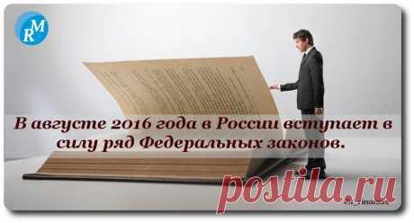 Какие законы вступают в силу в августе?  /В России определён «потолок» дохода для малых и средних компаний, сокращён отпуск для госслужащих и уточнён порядок информирования о приватизации/ #it_rinamax