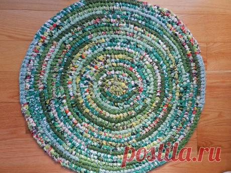 Плетение коврика при помощи иглы   NataliyaK   Яндекс Дзен