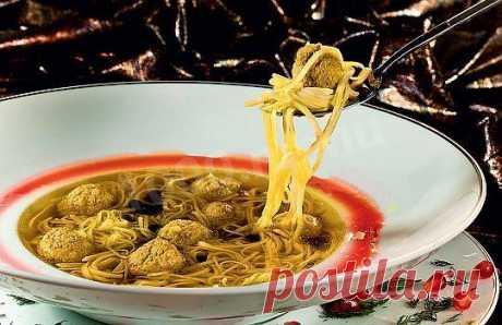 """Суп """"Хамраши"""" из фасоли и лапши рецепт с фото - 1000.menu"""