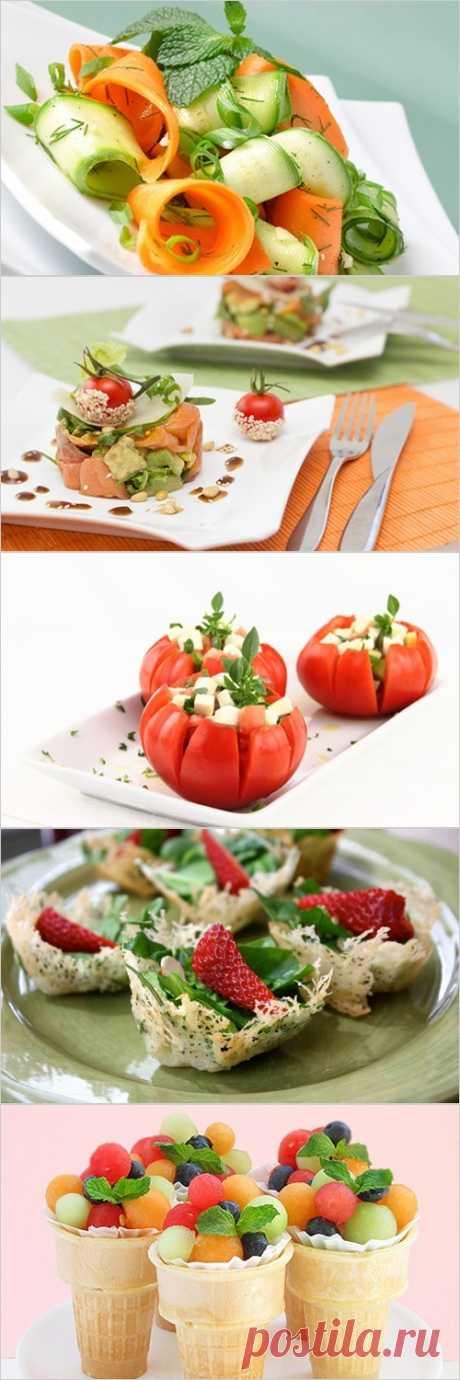 Лучшие варианты оформления салатов.