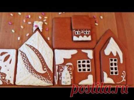 Пряничный домик: роспись глазурью. Часть 3