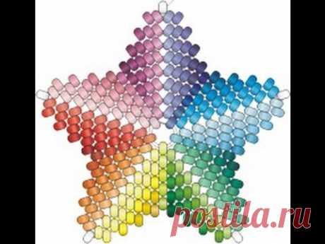 Мозаичный Пятиугольник с Ндебельскими Гранями. Бисерный мульт.