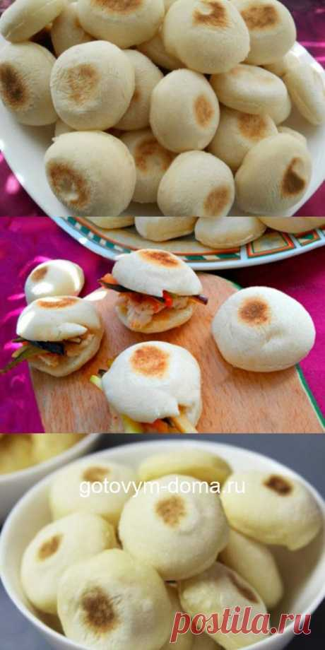 Mini-rolls on a dry frying pan: air inside, excellent basis for sandwiches!