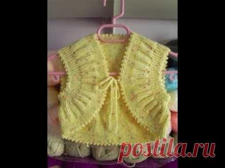 МК #Болеро для девочки 1 год Вязание спицами