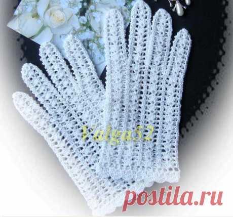 Вязаные перчатки. MK