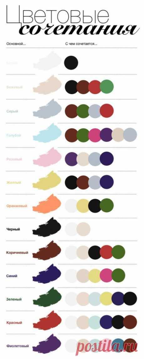Красивые цветовые сочетания (трафик)  Классные шпаргалки по красивым сочетаниям цветов и оттенков: