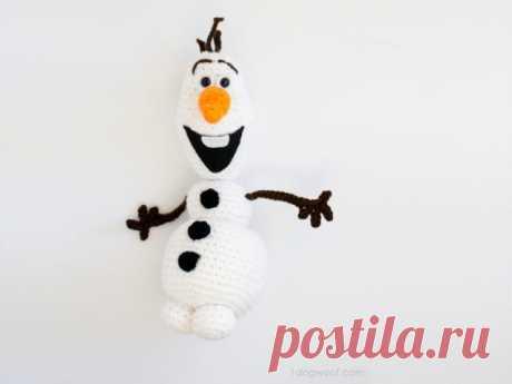 Снеговик Олаф амигуруми. Схема вязания.   Амигуруми — схемы, амигуруми крючком, вязание и игрушки амигуруми. Амигуруми всех стран!