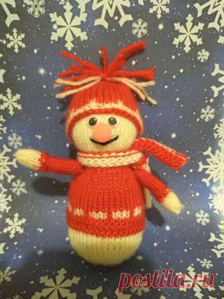 Снеговик. Вязаные игрушки - подарок любимым