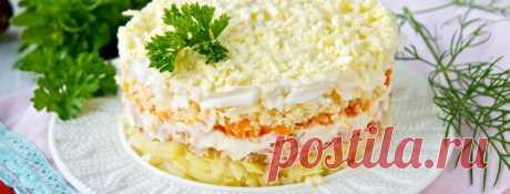 Салат Мимоза за 30 минут Мимоза, наверное, самый популярный салат в России после Оливье. В моей семье его готовят на каждый праздник, и всегда съедают мгновенно. Мы кладем в Мимозу не консервированную, а свежеприготовленную р...