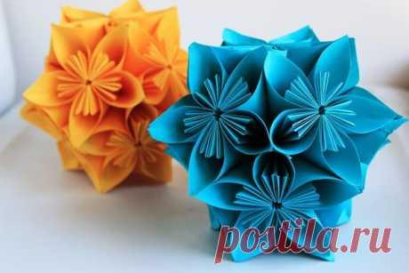 Создаем цветы из бумаги за 4 шага | Мир Вышивки | Яндекс Дзен