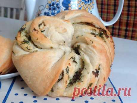 Калач с чесноком и зеленью рецепт с фото пошагово