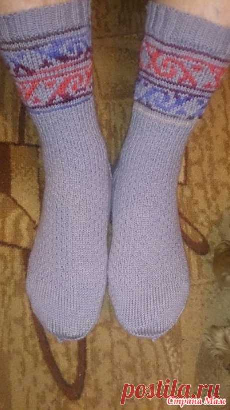 Socks for a competition we warm male legs