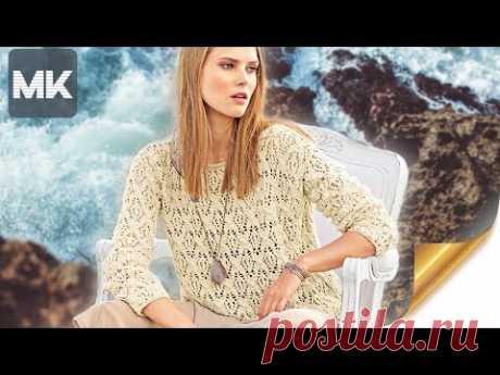 ЭФФЕКТНЫЙ УЗОР ДЛЯ ДЖЕМПЕРА  / МК по вязанию узора для одежды спицами