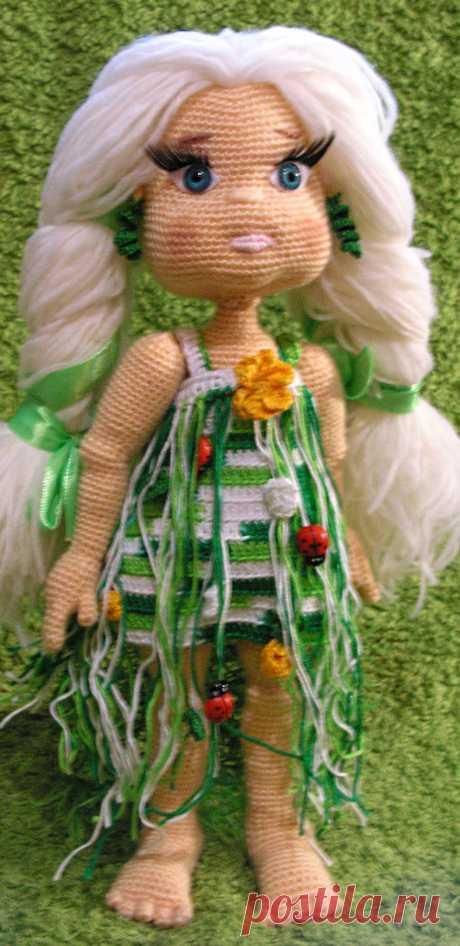 PDF Девочки крючком. FREE crochet pattern; Аmigurumi doll patterns. Амигуруми схемы и описания на русском. Вязаные игрушки и поделки своими руками #amimore - кукла, куколка.