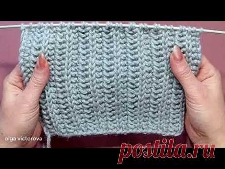 Плотный рельефный узор 407 Вязание спицами