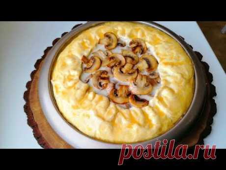 ПРОСТО соединяем Жульен и Тесто! По-домашнему вкусный пирог с курицей и грибами!