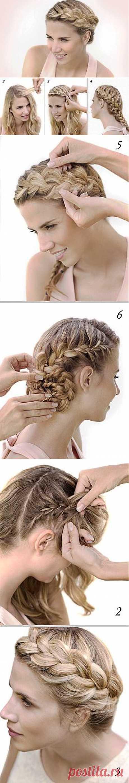 HOW TO MAKE THE VOLUME BRAID AROUND THE HEAD