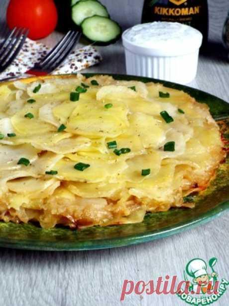 Картофельно-луковый пирог - кулинарный рецепт