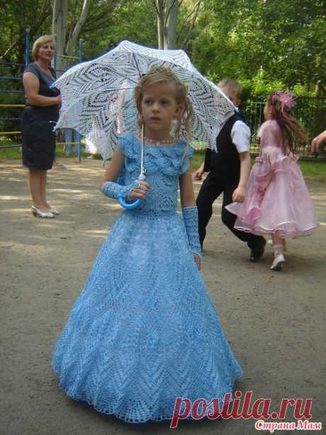 *Выпускное платье для доченьки - Все в ажуре... (вязание крючком) - Страна Мам