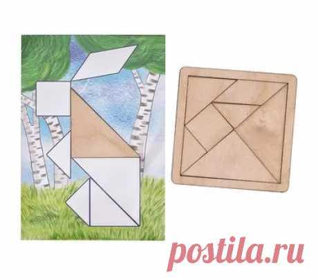 Танграм с набором карточек Кроха - купить в магазине развивающих игрушек Детский сад detsad-shop.ru