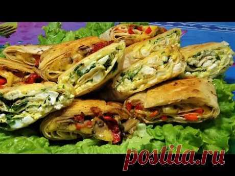 Вкусный рулет из Лаваша -2 Рецепта закуска к любому празднику