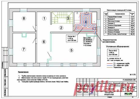 Проект отопления частного дома, пример 1424