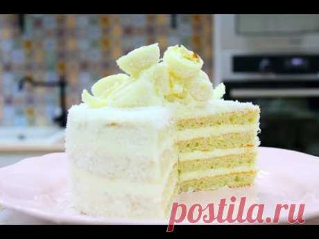 The RAFAELLO COCONUT cake \/ it is UNREAL TASTY!!! \/ Raffaello Coconut Cake