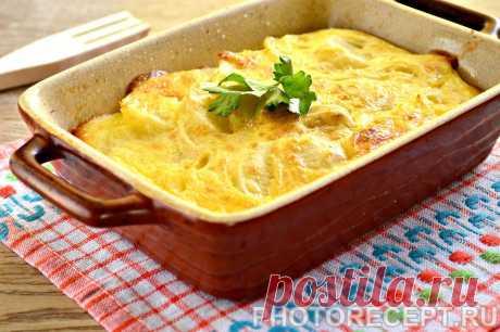 Картофельная запеканка с сыром и майонезом