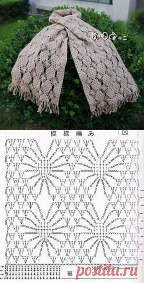 Узоры для осенних шарфиков