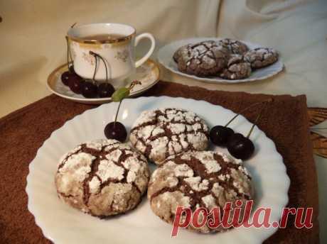 Печенье «Шоколадные трещинки» - пошаговый рецепт с фото - как приготовить, ингредиенты, состав, время приготовления - Леди Mail.Ru