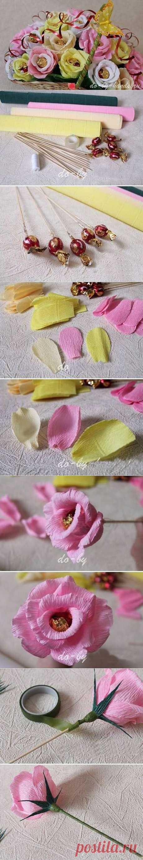 (+1) тема - Нежный букет из конфет | СВОИМИ РУКАМИ
