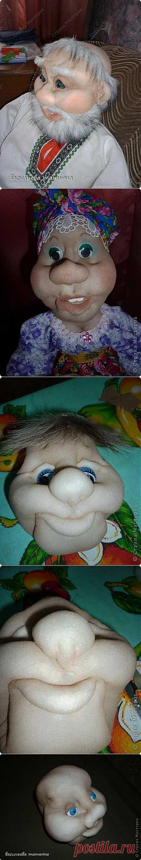 лицо колготочной куклы.