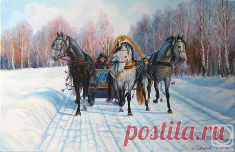 Зимняя тройка в живописи