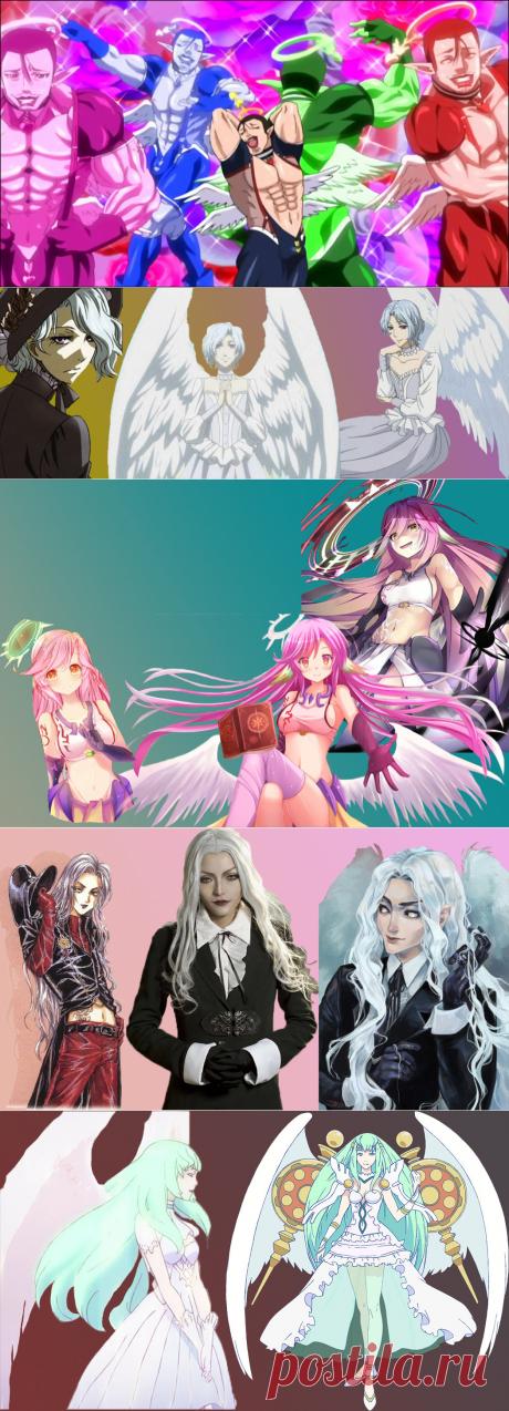 """6 """"пернатых и крылатых"""" персонажей в аниме - ангелы."""