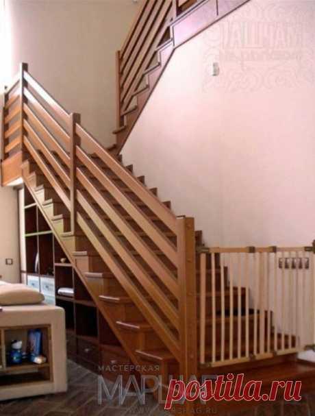 Лестницы, ограждения, перила из стекла, дерева, металла Маршаг – Перила в стиле кантри