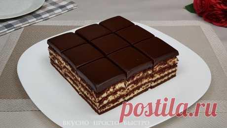 Потрясающе вкусный Торт из печенья: без выпечки