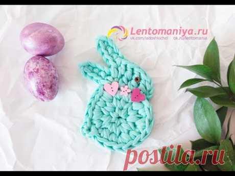 Пасхальный кролик (зайчик) из трикотажной пряжи