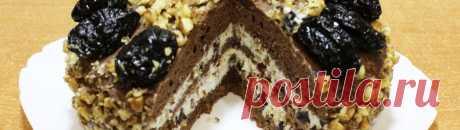 Торт с черносливом и грецким орехом: рецепт, пошаговое приготовление с фото