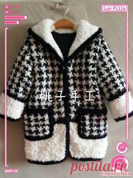 Пальто для девочки спицами. - Вязание для детей - Страна Мам