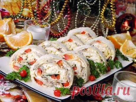 Обязательно сохраните! 10 закусок на праздничный стол   Вкусные рецепты