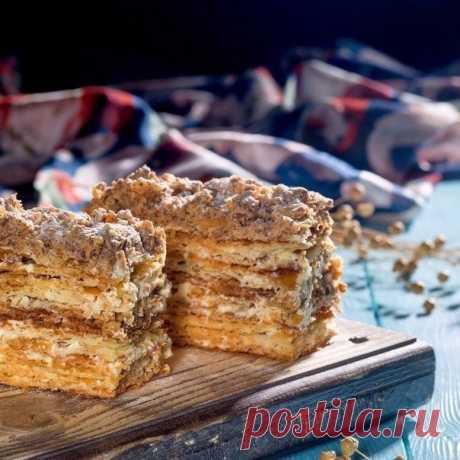 Как приготовить торт хрустящий наполеон - рецепт, ингредиенты и фотографии
