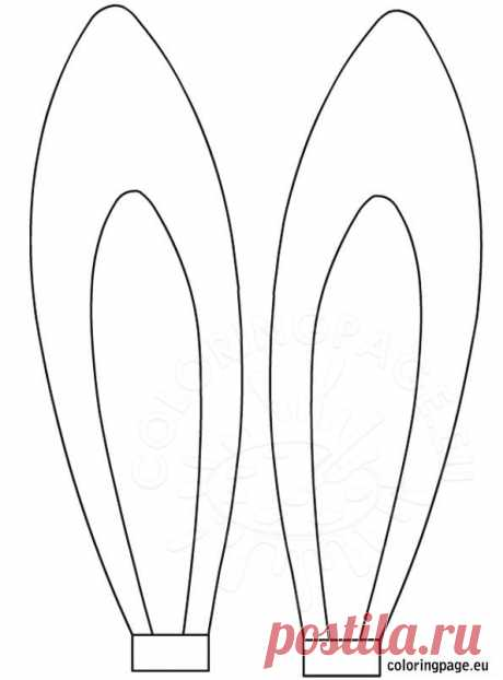 Easter rabbit ears template | Coloring Page