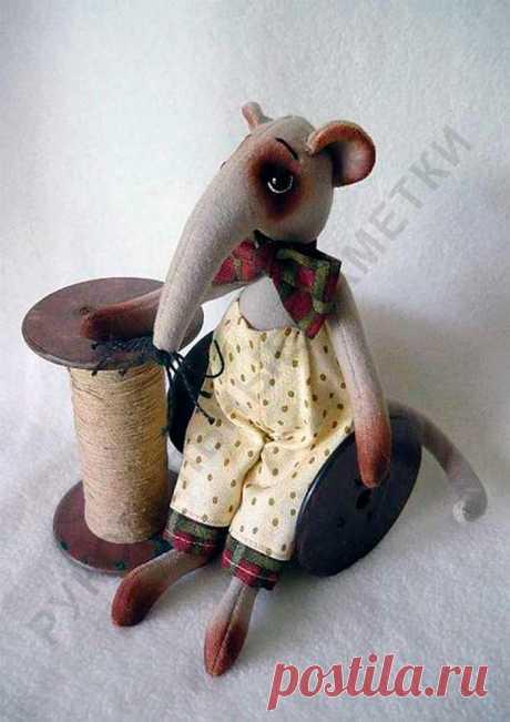 18 выкроек мягкой игрушки «Крыса»   Рукодельные заметки